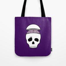Brainy Skull Tote Bag