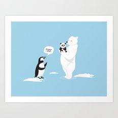 How little Pandas are born Art Print