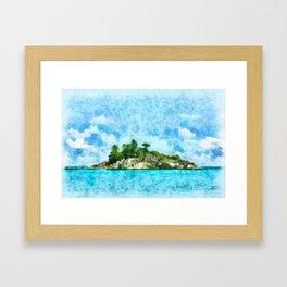 Paraíso Solitário Framed Art Print