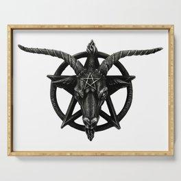 Baphomet Satanic Church Goat Head Serving Tray
