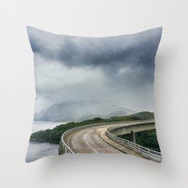 Kylesku Bridge Throw Pillow