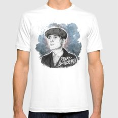 Tommy Shelby MEDIUM Mens Fitted Tee White