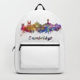 Cambridge skyline in watercolor Backpack