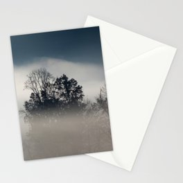 Morning Fog with Trees Stationery Cards