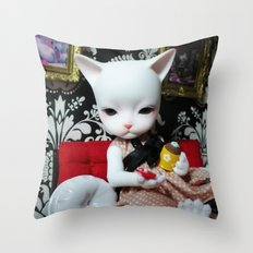 WEEKEND AT HOME (Cat Doll) Throw Pillow