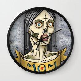 'Mom' Zombie Tattoo print Wall Clock