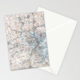 VIntage Topographical Survey Boston Massachusetts Stationery Cards
