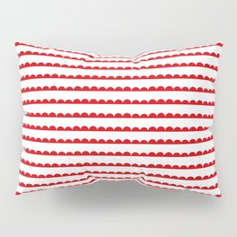 Red Scallop Pillow Sham