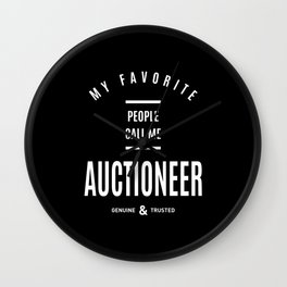 Auctioneer Work Job Title Gift Wall Clock
