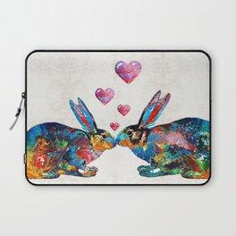 Bunny Rabbit Art - Hopped Up On Love - By Sharon Cummings Laptop Sleeve