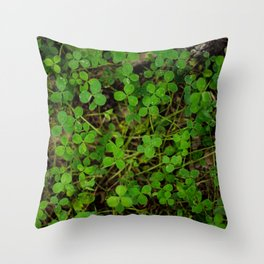 More Clovers! Throw Pillow
