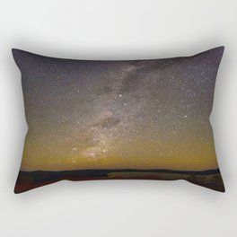 Milky Way Galaxy Star Night Sky Night Time Rectangular Pillow