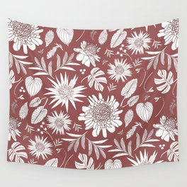 MARSALA TROPICAL FLORAL Wall Tapestry