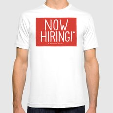 Now Hiring MEDIUM Mens Fitted Tee White