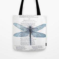 Dragonfly Poet Tote Bag