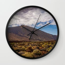 Landscape Photo from the Teide Volcano at Tenerife Wall Clock