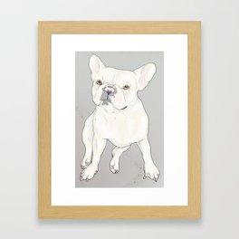 """""""Frenchie Love"""" Framed Art Print"""