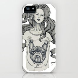 girl&dog iPhone Case