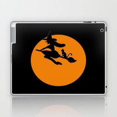 Flying Witch with Cat Laptop & iPad Skin