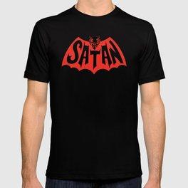 Satan Devil Bat Man Vintage Style Logo T-shirt