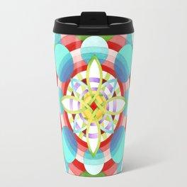 Retro Ombre Flowers (large) Travel Mug