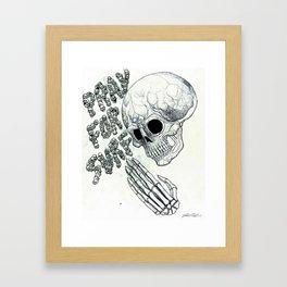 Pray For Surf 2 Framed Art Print