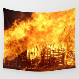 Burning Down the House Wall Tapestry