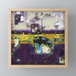 Controversy Prince Deep Purple Abstract Painting Modern Art Framed Mini Art Print