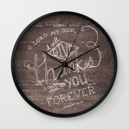 Psalm 30:12 Wall Clock