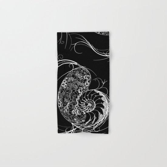 Black And White Shell Design Hand & Bath Towel