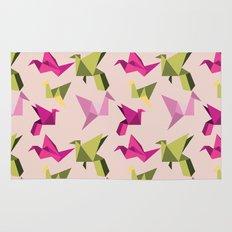pink paper cranes Rug