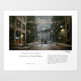 """""""Brooklyn"""" in words & image (M.Konecka) Art Print"""