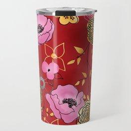 Aurora Larger Floral print Travel Mug