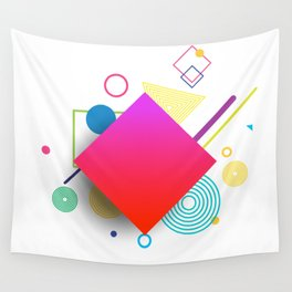 Displaced Geometry Wall Tapestry