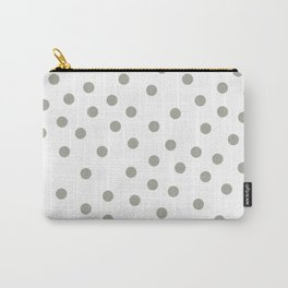 Simply Dots in Retro Gray on White Carry-All Pouch