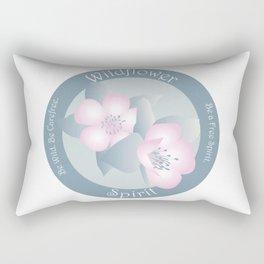 Wildflower Spirit - Boho Breeze Rectangular Pillow