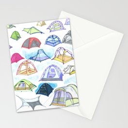 tents from a mountain vagary Stationery Cards