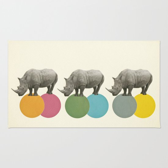 Rambling Rhinos Rug