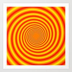 Yellow into Red via Orange Spiral Art Print