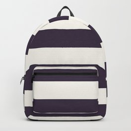 summer beach coastal nautical french fashion navy blue stripes Backpack