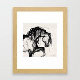 Horse (Saklavi Portrait) Framed Art Print