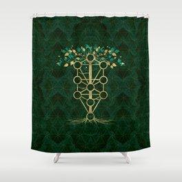 Kabbalah The Tree of Life - Etz Hayim Shower Curtain