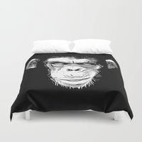 evil Duvet Covers featuring Evil Monkey by Nicklas Gustafsson