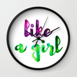 Like a Girl Wall Clock