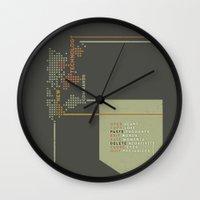technology Wall Clocks featuring New Technology Commands by Schwebewesen • Romina Lutz