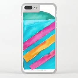 180819 Geometrical Watercolour 3  | Colorful Abstract | Modern Watercolor Art Clear iPhone Case
