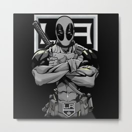 LA Kings/Deadpool Metal Print