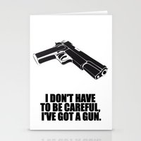 gun Stationery Cards featuring gun by muffa