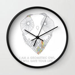 Geometric Owl Wall Clock
