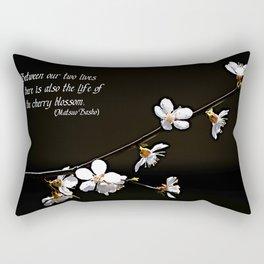 Sakura flowers on black Rectangular Pillow
